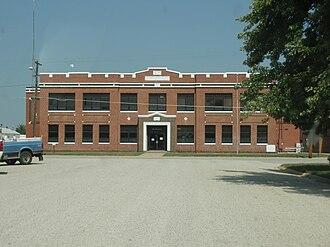 Cunningham, Kansas - Image: Cunningham kansas high school 2009