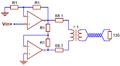 Current feedback op amp single-input HDSL2 driver.png