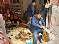 Cusco Peru- shop making Bandurrias.jpg