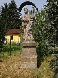 Cvikov - Martinovo Údolí - socha svatého Petra u čp. 426 (1).jpg