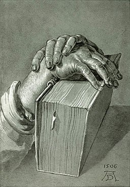 Dürer, Albrecht - Hand Study with Bible - 1506