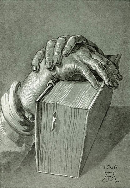 Файл:Dürer, Albrecht - Hand Study with Bible - 1506.jpg