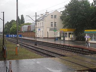 railway station in Dęblin, Poland