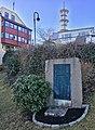 D-S Austri Memorial in Nattrutekaien, Leirvik, Stord, Norway. Ship bombed 1945-02-21. Radio mast. 2018-03-10.jpg