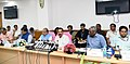 D.V. Sadananda Gowda addressing a press conference on the achievements of the Ministry of Statistics and Programme Implementation, during the last four years, in New Delhi (1).JPG