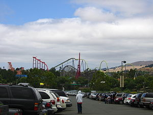 Six Flags Discovery Kingdom - Discovery Kingdom, seen from the parking lot