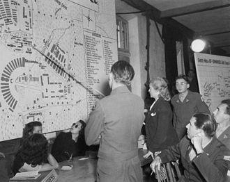Ilse Koch - Ilse Koch at the U.S. Military Tribunal in Dachau, 1947