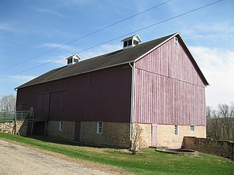 National Register of Historic Places listings in Dane County, Wisconsin - Image: Dairy barn, Bedrud Olson Farmstead