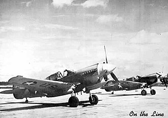 Dale Mabry Army Airfield - 58th Fighter Group P-40 Warhawks on the flight line