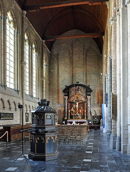 Damme (West Flanders, Belgium): St Mary's church, interior