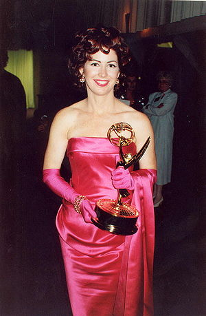 Dana Delany - Delany at 44th Primetime Emmy Awards, holding the award she won in 1992.