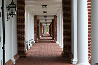 University of Virginia Darden School of Business - The Jeffersonian corridors along the School grounds
