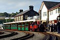 David Lloyd George with vintage train at Porthmadog.jpg