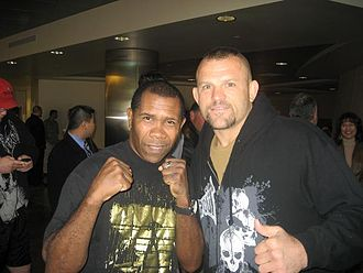 Chuck Liddell - Liddell trained with American Boxing Gold Medalist Howard Davis Jr. to prepare for an April 2009 bout against Maurício Rua.
