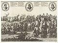 De Vierdaagse Zeeslag, 1666 Zee-slag tussen d'Engelse en Neerlanders, onder 't beleydt van d'Admiralen, Monck, en de Ruyter. Op den 11, 12, 13 en 14 Juni 1666 (titel op object), RP-P-OB-82.042.jpg