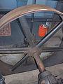 De Westermolen Langerak, dieselgemaal dieselmotor aandrijfwiel.jpg