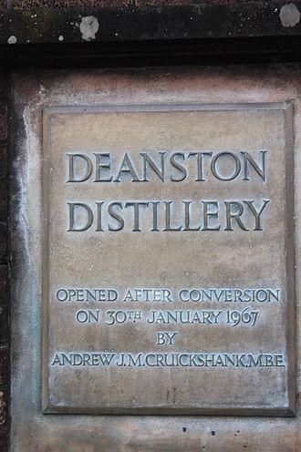 Deanston distillery - Image: Deanston Distillery plaque