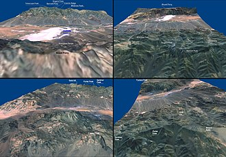 Geology of the Death Valley area - Death Valley 3D views