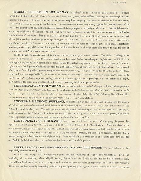 Declaration of sentiments analysis