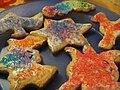 Decorated sugar cookies, December 2009.jpg
