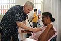 Defense.gov News Photo 100809-N-9964S-177 - U.S. Navy Cmdr. Timothy Burgess conducts medical examinations during a Continuing Promise 2010 medical community service event in Colombia on Aug.jpg