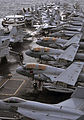 Defense.gov News Photo 101202-N-7103C-346 - Aircraft are secured to the bow of the aircraft carrier USS George Washington CVN 73 during a vertical replenishment operation on Dec. 2 2010. The.jpg