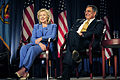 Defense.gov News Photo 110816-F-RG147-611 - Secretary of Defense Leon E. Panetta and Secretary of State Hillary Rodham Clinton meet for a televised conversation at the National Defense.jpg