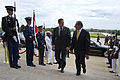 Defense.gov News Photo 110930-D-BW835-001 - Secretary of Defense Leon E. Panetta right escorts Canadian Minister of Defense Peter MacKay through an honor cordon and into the Pentagon in.jpg
