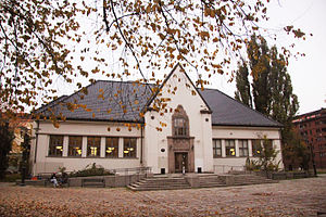 August Nielsen - Image: Deichmanske bibliotek Schous plass Grünerløkka