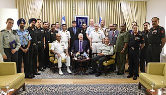 National Defence College (India) - Delegation of National Defence College of India in a meeting with Reuven Rivlin president of Israel, August 2018