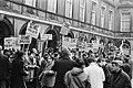 Demonstraties bij het Binnenhof Den Haag tijdens EEG-conferentie. Politiepaard r, Bestanddeelnr 923-0376.jpg