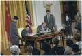 Deng Xiaoping and Jimmy Carter during the Sino-American signing ceremony. - NARA - 183300.tif