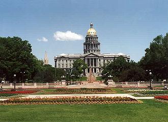 Government of Denver - The capitol building, Colorado's political center, located in Denver.