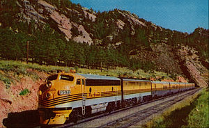 Prospector (train) - Postcard photo of the train.