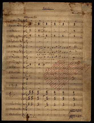 The Flying Dutchman (opera) - First page of the autograph of the overture