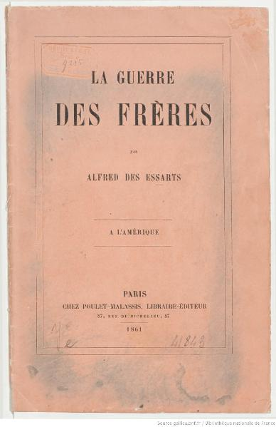 File:Des Essarts - La Guerre des frères, 1861.djvu