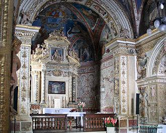 Alanno - Interior of the Church of Santa Maria delle Grazie.