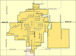 Detailed map of Scott City