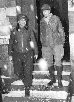 Alexander Patch - Lieutenant General Jacob L. Devers and Lieutenant General Alexander Patch at Luneville, France, January 1945.