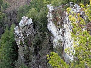 Monument Mountain (Berkshire County, Massachusetts) - Devil's Pulpit, Monument Mountain