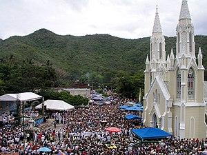 Virgen del Valle - Holiday celebrated in the Virgin of the Valley day (El Valle, Nueva Esparta, Venezuela).