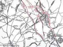 Diagram of Lesbœufs and vicinity evening 25 September 1916.png