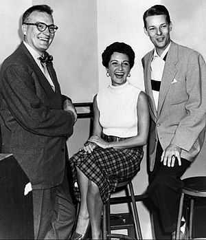 Connie Russell - Russell with Dave Garroway and Jack Haskell at WMAQ Radio in 1951.