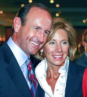 Betsy DeVos - Dick and Betsy DeVos at the October 10, 2006 gubernatorial debate in Grand Rapids, Michigan.