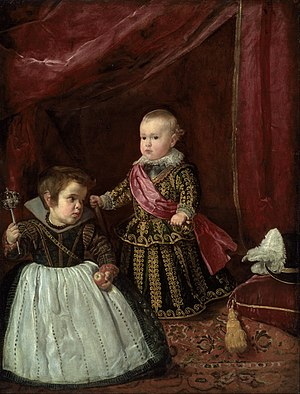 Balthasar Charles, Prince of Asturias - Image: Diego Rodríguez de Silva y Velázquez Don Baltasar Carlos with a Dwarf Google Art Project