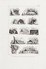 Différentes formes de huttes des sauvages bréziliens