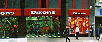Dixons Retail - A Dixons store in Sheffield in December 2000