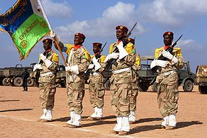 Members of the Djibouti Army during a ceremony in 2009
