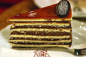 Dobos torte - A slice of Dobos from Café Gerbeaud
