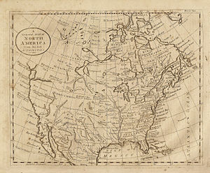 Alta California - Map of N. America showing California when it was part of New Spain. Map dated 1789 from Dobson's Encyclopedia.